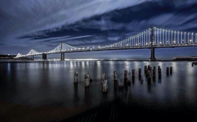 Not the Golden Gate Bridge. Bay Bridge. Look at me, please look at me.