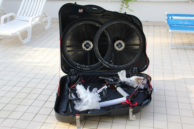 Bike bag packed
